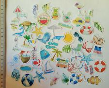 50er Set Sommer Urlaub Stickerbomb Aufkleber Sticker Kinder Sonne Strand