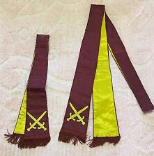 Antique Vintage Pair Vestment Stole Religious Priest Deacon Satin Gold Fringe