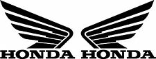 HONDA WING GOLDWING DIE CUT DECAL - SET OF 2 - BLACK