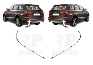 Pour Audi Q7 2009 - 2015 Neuf Pare-Chocs Bas Côté Chrome Bordure Paire De