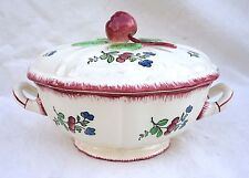 Vintage French Small Tureen Vegetable Serving Dish Lorraine Model Faience Gien