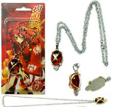 Anime Shakugan no Shana Red Crystal Cosplay Necklace Pendant Gift
