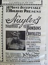 1897 Vintage Huyler's Bonbons Chocolates Chocolate Holiday Candy Ad