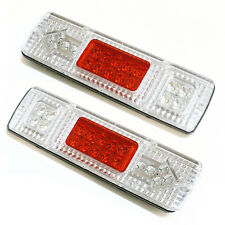 2pcs 12v 19 Led Rear Tail Stop Indicator Lights Lamp Truck Trailer Lorry Caravan