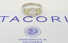 TACORI HT2247 1.56 ct Platinum Round & Pear Fancy Yellow Diamond Engagement Ring