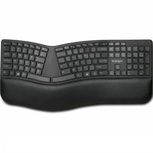 NEW Kensington Dual Comfort Keyboard Split Keys Ergonomic Bluetooth|USB Wrist Re