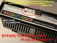 Coleco Colecovision TV RF Video Television Cable Connector Switch Box