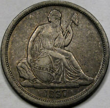 1837 Lg Date Seated Liberty Dime EF+ So Very NICE & 100% ORIGINAL, Tough Coin!!