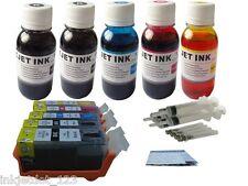 Refillable ink kit for PGI-220 CLI-221 ip3600 ip4600 ip14700 MP540 MP560 5x100ml