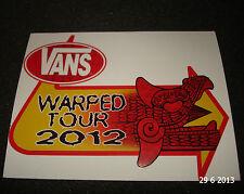 1 AUTHENTIC VANS SHOES WARPED TOUR 2012 STICKER / DECAL #33 AUFKLEBER