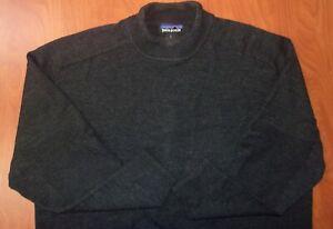 Patagonia 100% Pure Merino Wool Knit Mens Journey Mock Neck Sweater L