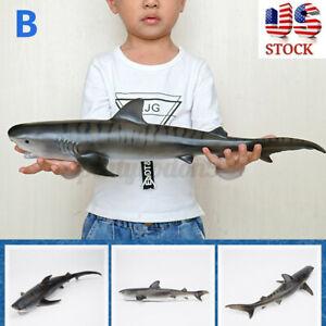 Simulation Sea Life Animals Shark Whale Figures Model Education Kids Boys Toy