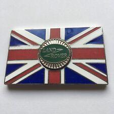 LAND ROVER Union Jack GB Metal Enamel Classic Car Badge - Self Adhesive