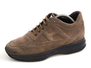 Hogan Low Top Sneakers Beige Suede Mens Shoe Size US 8.5 EU 41.5 $420