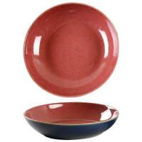 """Denby Langley HARLEQUIN 8 5/8"""" Pasta Bowl - Red/Blue 11386212"""