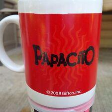 PAPACITO DAD 10 OUNCE CERAMIC COFFEE MUG RED WHITE