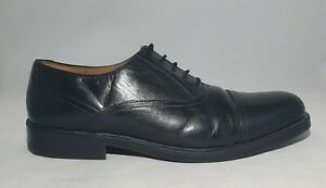 Clarks Mens Black Leather Shoes Lace Ups UK 11 Extra Wide Fit