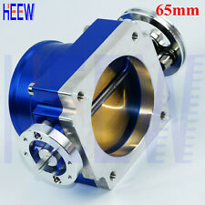 "65MM 2.55"" Throttle Body Universal High Flow Aluminum Intake Manifold Blue ZZNZ"