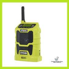 Ryobi One+ 18V Bluetooth Radio Wireless, USB Charger save 10 FM & 10 AM Station
