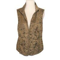 Sport Haley Camel & Dark Brown Metallic Zip Vest S