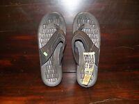 New Mens SANUK HIGHLINE Black Surfer Beach Comfort Durable Sandals Flip Flops