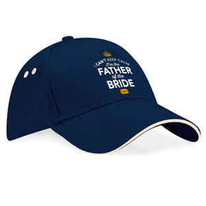 Father Of The Bride Gift Hat Keepsake Baseball Cap Stag Night Party Survival Kit