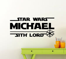 Personalized Star Wars Wall Decal Custom Name Sith Lord Geek Vinyl Sticker 135ct