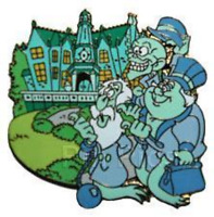 Disney Pin 58993 WDW Gold Card The Haunted Mansion Hitchhiking Ghosts LE 1500