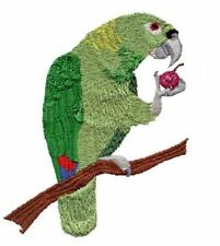 """Yellow Naped Amazon Parrot Embroidered Patch 3.7"""" x 4.6"""""""
