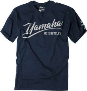 Factory Effex Licensed Yamaha Script Adult T-Shirt All Sizes