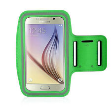Running High Quality Adjustable Neoprene Armband Tie Samsung Galaxy S6 Green