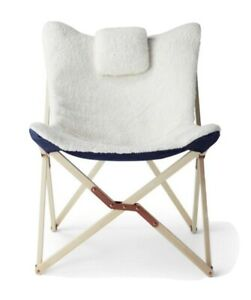 NEW Levis Target Sherpa Butterfly Chair with Headrest Cream