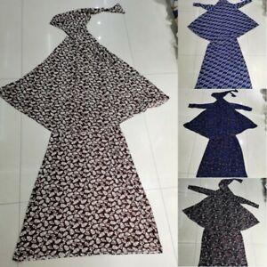 Muslim Women Hijab Top and Skirt Two-Piece Ramadan Abaya Traditional Costume