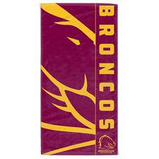 Brisbane Broncos NRL Beach Bath Gym Towel Fathers Day Christmas Birthday Gift