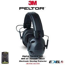 3M Peltor Tactical Sport 100 Electronic Earmuff Foam Black NRR 22 #TAC100-OTH