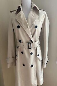 Original Burberry Prorsum Trench Coat Women Beige Size 2