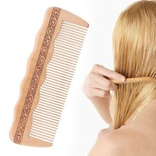 Hair Engraved Natural Peach Wood Wooden Comb Anti-Static Combs For Makeup   w
