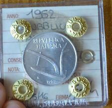 MONETA REPUBBLICA ITALIANA 10 LIRE 1952 sigillata FDC SUBALPINA