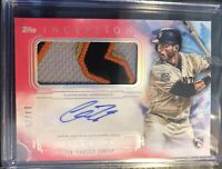 Chris Shaw 2019 Inception Rookie Patch Autograph Jersey /75 San Francisco Giants
