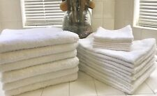 8 Pc Cotton BathTowel Set White