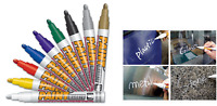 6 x Mungyo GOLD PAINT MARKER OIL BASED PERMANENT -WOOD GLASS STONE METAL RUBBER