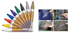 3 x Mungyo WHITE PAINT MARKER OIL BASED PERMANENT-WOOD GLASS STONE METAL RUBBER