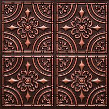 # 205 (Lot of 12) Antique Copper PVC Faux Tin Decorative Ceiling Tiles Glue- Up