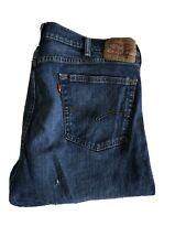 Men's 42 X 32 Levi's 505 Straight Leg Medium Wash Jeans