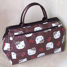 HelloKitty Zipper Handbag Tote Shoulder Bag 2017  New Cute Coffee Big Size