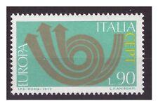 1973 - EUROPA UNITA 90  LIRE  VARIETA CORNO IN BRONZO -  Nuovo **