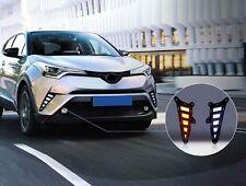 US STOCK Front Fog Light DRL Daytime Running Lamp 2pcs For Toyota C-HR 2016-2018