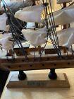 "Vintage Hand Crafted Wood Model Decor Nautical Sailboat Mayflower 20"""