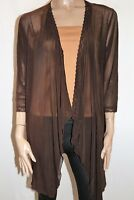 VIVID Brand Chocolate Mesh Lace Cover Up Cardigan Size 14 BNWT #SF51