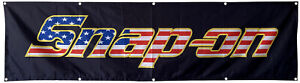 Snap-on Flag Banner 2x8ft Tools Products USA banner US Shipper